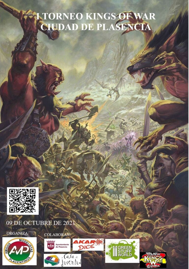 cartel I torneo kings of war ciudad plasencia
