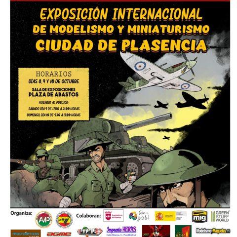 Cartel XXVI certamen Modelismo Ciudad de Plasencia 2021
